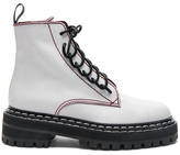 Proenza Schouler Leather Boots in White.
