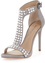 BCBGMAXAZRIA Diana Jeweled T-Strap Sandal, Dove