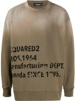 DSQUARED2 logo detail sweatshirt