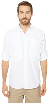 Royal Robbins Bug Barrier Expedition Long Sleeve Shirt (White) Men's Long Sleeve Button Up