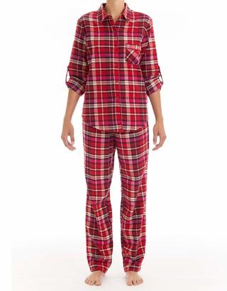 Joe Boxer Women's Ruby Rose Plaid Pajama Set Sleepwear