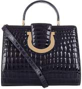 Salvatore Ferragamo MediumGancini Crocodile Top Handle Bag