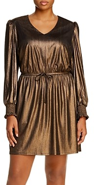 Aqua Curve Metallic Mini Dress - 100% Exclusive