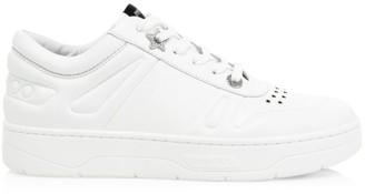 Jimmy Choo Hawaii Leather Sneakers