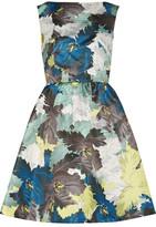 Erdem Kenya Printed Duchesse-Satin Mini Dress