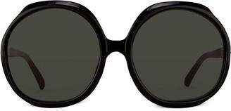 Linda Farrow oversized round-frame sunglasses