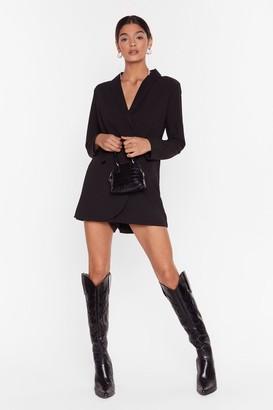 Nasty Gal Womens Blazer Belive It Plunging V-Neckline Playsuit - Black - L