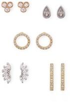 Aqua Sparkle Earrings, Set of 5 Pairs