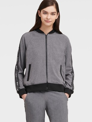 DKNY Commuter Bomber With Logo Taping