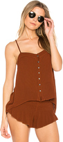 Blue Life Mohave Button Cami in Brick. - size L (also in M,S,XS)