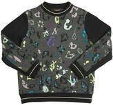 Roberto Cavalli Colorful Leopard Print Cotton Sweatshirt