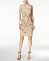 Calvin Klein Petite Embroidered Lace Sheath Dress