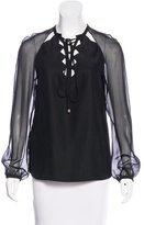 Altuzarra Silk Lace-Up Top w/ Tags