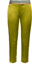 Haider Ackermann Iteso contrasting-waist silk cropped trousers
