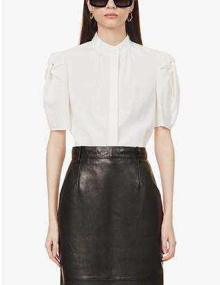 Frame Evie stretch-silk shirt