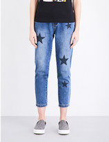 Mo&Co. Star-motif cropped mid-rise jeans