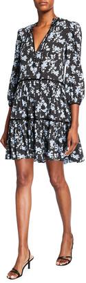 Veronica Beard Hawken Tiered Dress