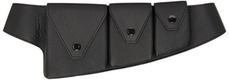 Kenzo Black Onda Utility Belt Pouch