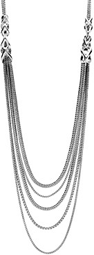 John Hardy Sterling Silver Classic Chain Link Bib Necklace, 16