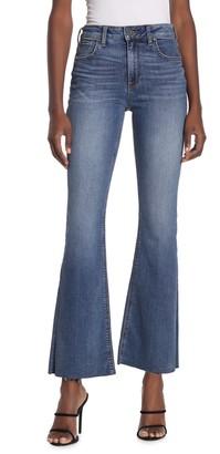 KUT from the Kloth Stella Flare Raw Hem Jeans