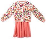 Speechless 2-Pc. Floral-Print Bomber Jacket and Skater Dress Set, Big Girls
