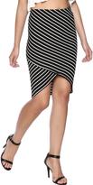 Iris Striped Wrap Skirt