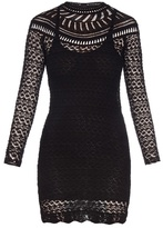 Isabel Marant Davy long-sleeved crochet-knit dress