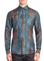 Salvatore Ferragamo Printed Cotton Shirt