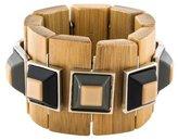 Marni Resin & Horn Link Stretch Bracelet