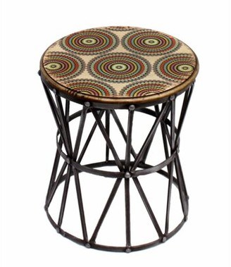 World Menagerie Costanza Aesthetically Charmed Round Metal End Table