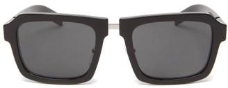 Prada Square Acetate Sunglasses - Womens - Black