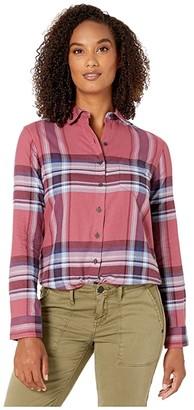Pendleton Primary Flannel Shirt (Dry Rose Multi Plaid) Women's Clothing