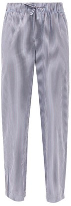 Tekla Striped Organic-cotton Pyjama Trousers - Brown Stripe