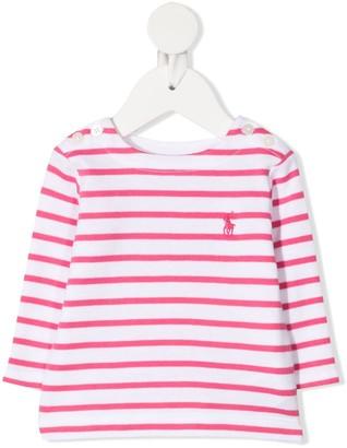 Ralph Lauren Kids striped long-sleeved T-shirt