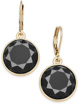 Charter Club Gold-Tone Colored Stone Drop Earrings, Only at Macy's