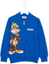 Moschino Kids - tiger print zip sweatshirt - kids - Cotton - 6 yrs
