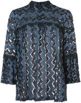 Anna Sui zig zag lace blouse