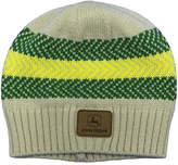John Deere Khaki & Green Stripe Logo-Applique Knit Beanie
