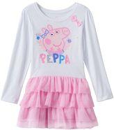 Toddler Girl Peppa Pig Long Sleeve Tiered Tutu Dress