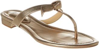 Alexandre Birman Clarita Metallic Leather Sandal