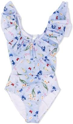 MonnaLisa Embroidered Ruffle Swimsuit