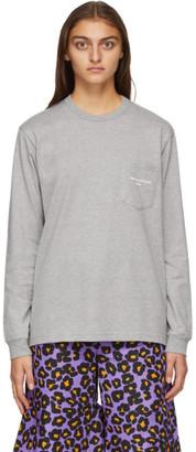 Comme des Garçons Homme Plus Grey Logo Long Sleeve T-Shirt