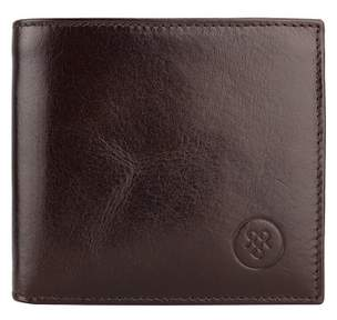 Maxwell Scott Bags Maxwell Scott Italian Made Wallet With Coin Holder - Ticciano Brown