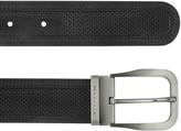 Moreschi Men's Black Perforated Leather Belt