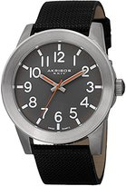 Akribos XXIV Men's AK779SSB Stainless Steel Watch with Black Canvas Band