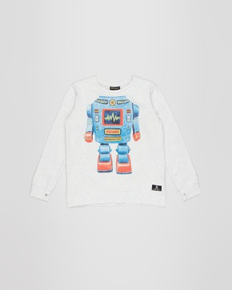 Rock Your Kid Robo Kid Long Sleeve T-Shirt - Kids