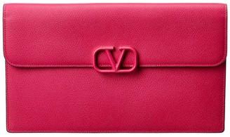 Valentino Vsling Large Envelope Leather Clutch