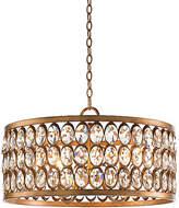 John-Richard Collection Faceted 4-Light Pendant - Gold Leaf/Crystal