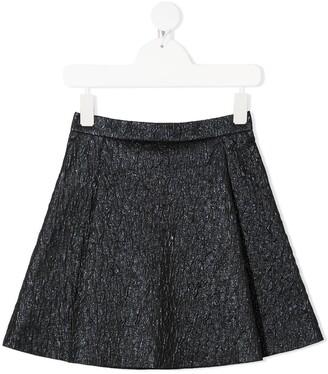 Señorita Lemoniez Lee embossed texture skirt