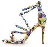 Charlotte Russe Printed Knot Dress Sandals